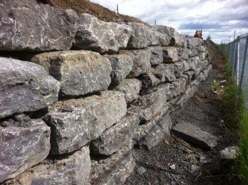 Mur de roches Repentigny