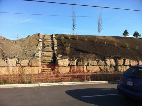 Début de plantations Butte anti bruit